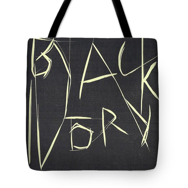 Black Ivory Title Page Tote Bag