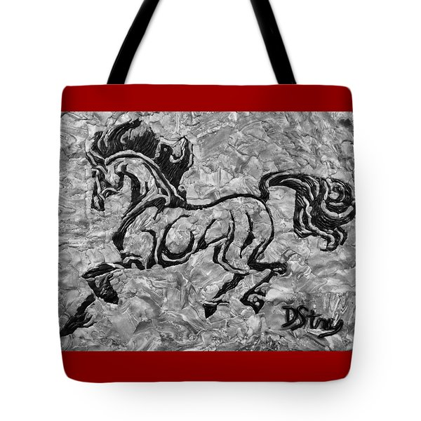 Black Jack Black And White Tote Bag