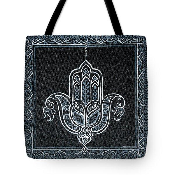 Black Khamsa Tote Bag by Eleanor Hofer