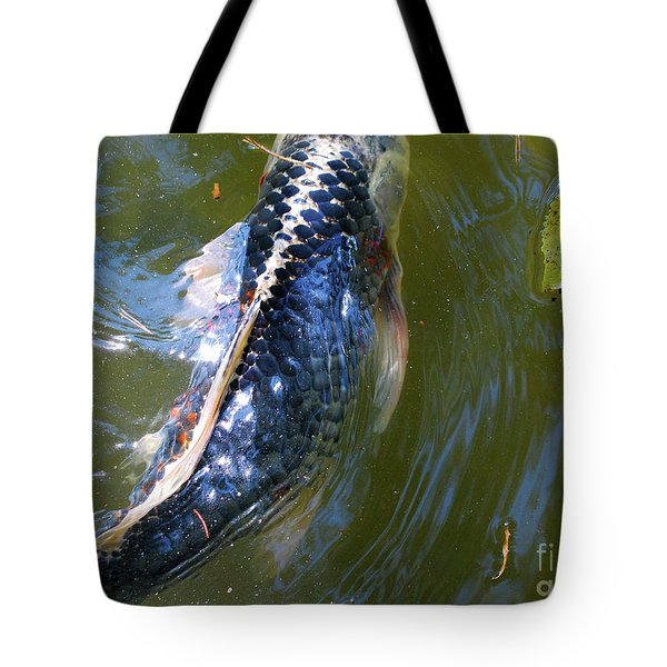 Black Koi Tote Bag