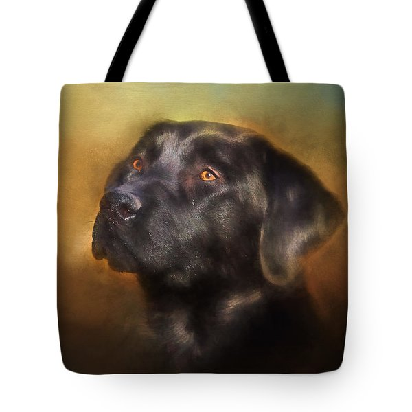 Black Lab Portrait 2 Tote Bag