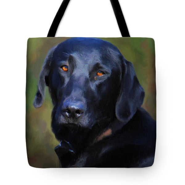 Black Lab Portrait Tote Bag
