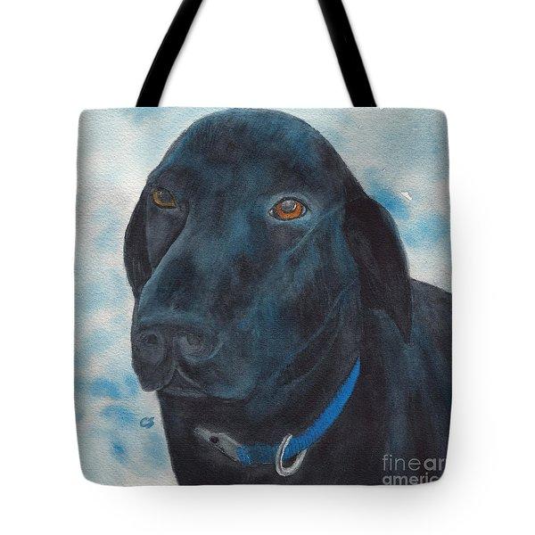 Black Labrador With Copper Eyes Portrait II Tote Bag