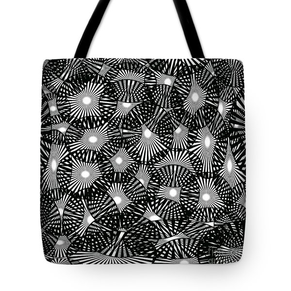 Black Lace Abstract Tote Bag
