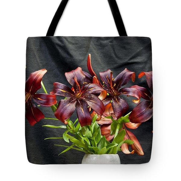 Black Lilies Tote Bag