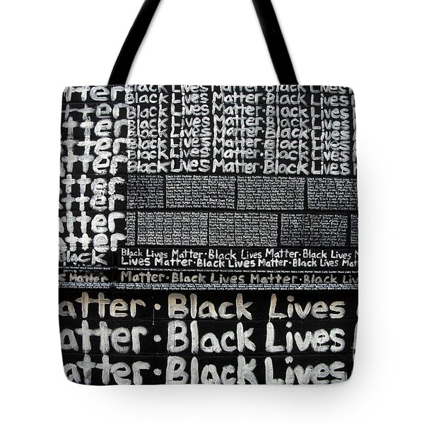 Black Lives Matter Wall Part 2 Of 9 Tote Bag
