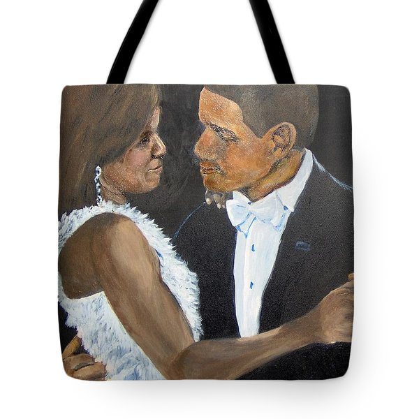 Tote Bag featuring the painting Black Love Is Black Power by Saundra Johnson