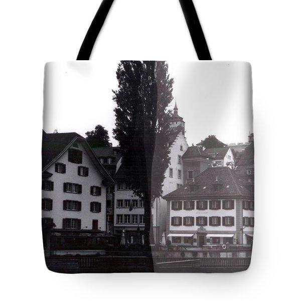 Black Lucerne Tote Bag