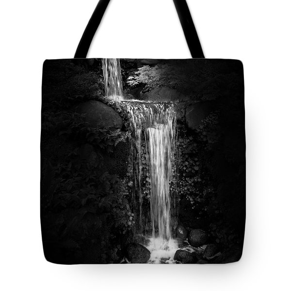 Tote Bag featuring the photograph Black Magic Waterfall by Peter Thoeny