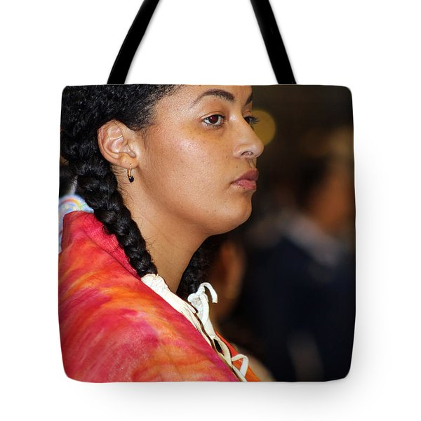 Black Native Tote Bag by Audrey Robillard