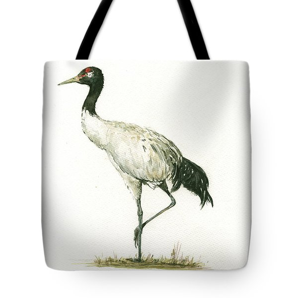 Black Necked Crane Tote Bag