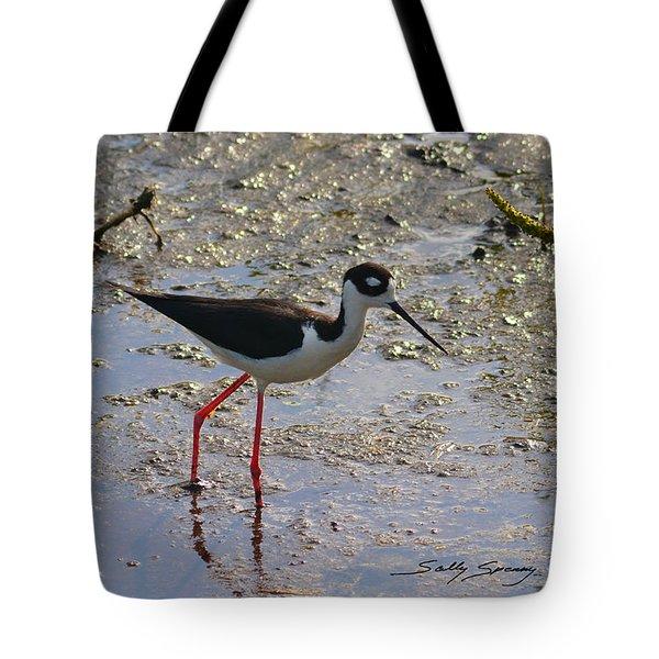 Black Necked Stilt Tote Bag