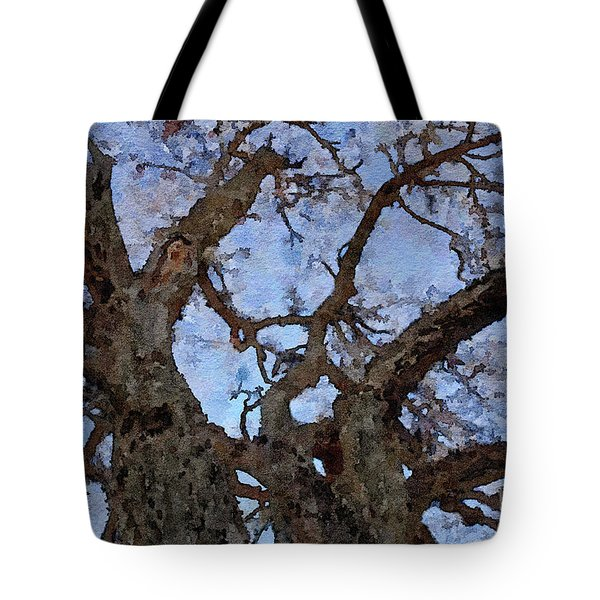 Tote Bag featuring the painting Black Oaks by Mark Greenberg