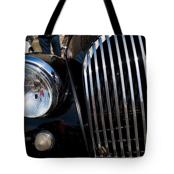 Tote Bag featuring the photograph Black Oldtimer Car by Hans Engbers