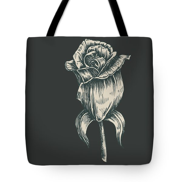 Tote Bag featuring the digital art Black On Black by ReInVintaged