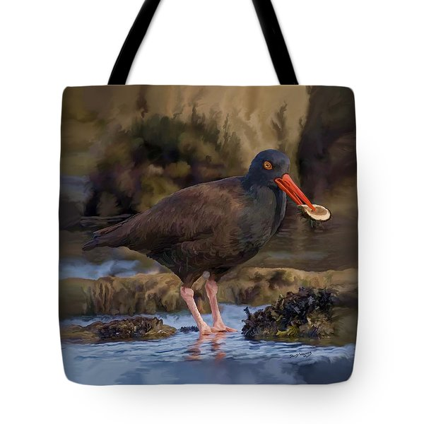 Black Oyster Catcher Tote Bag
