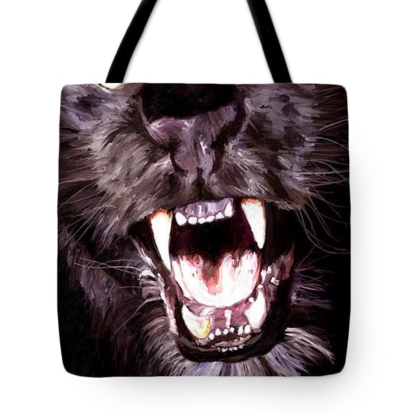 Tote Bag featuring the painting Black Panther by James Shepherd