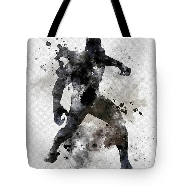 Black Panther Tote Bag by Rebecca Jenkins