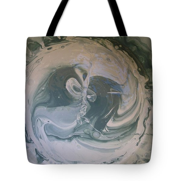 Black Panthers Kissing In Ice Cave Tote Bag