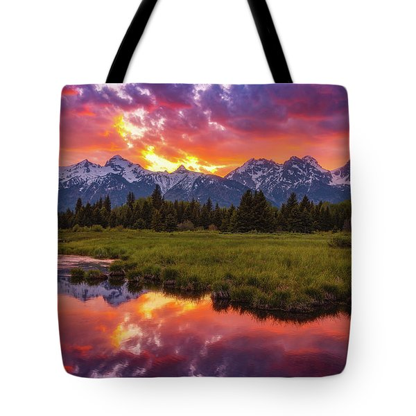 Black Ponds Sunset Tote Bag