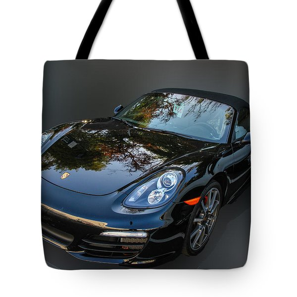 Black Porsche Tote Bag by Robert Hebert