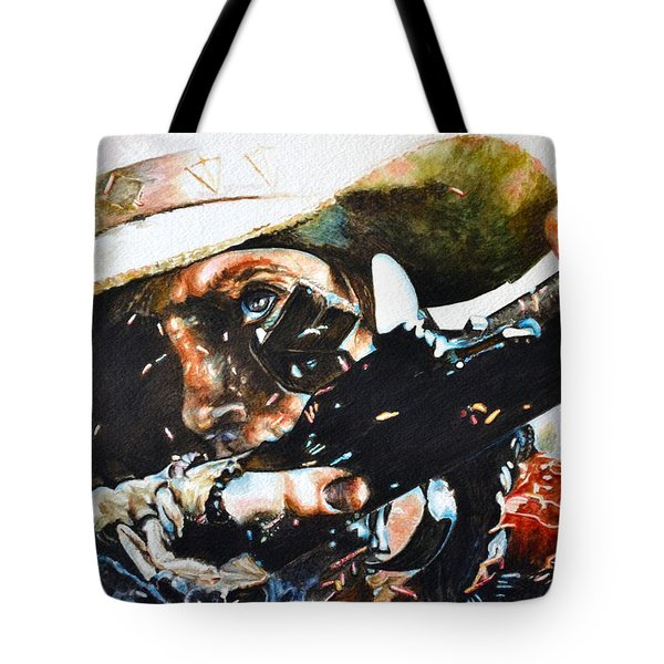 Black Powder Tote Bag