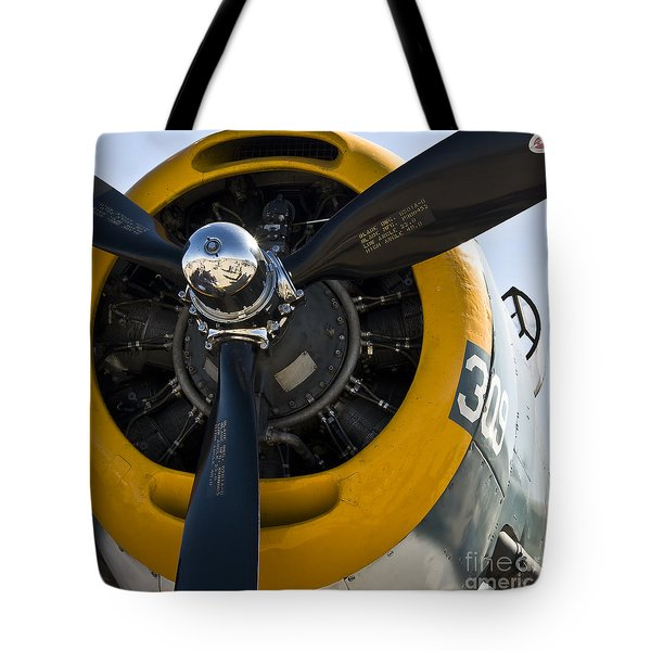 Tote Bag featuring the photograph Black Propeller by Kirt Tisdale