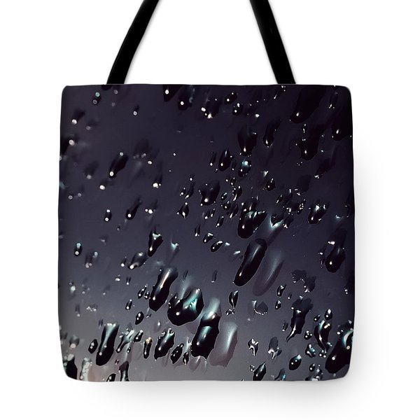 Black Rain Tote Bag