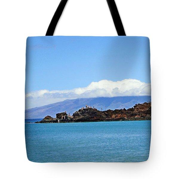 Black Rock Beach And Lanai Tote Bag