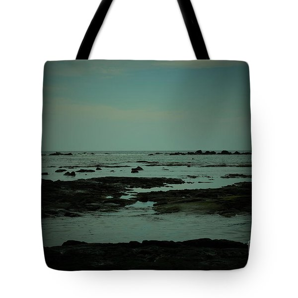 Black Rock Beach Tote Bag by Mini Arora