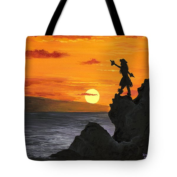 Tote Bag featuring the painting Black Rock Maui by Darice Machel McGuire