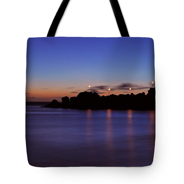 Black Rock Sunset Tote Bag by Kelly Wade