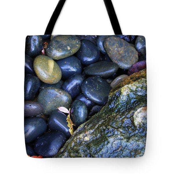 Black Rocks And Stone Tote Bag