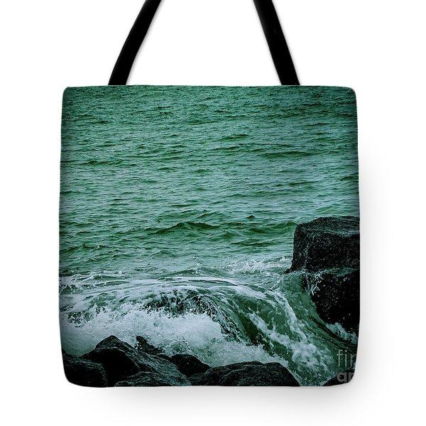 Black Rocks Seascape Tote Bag