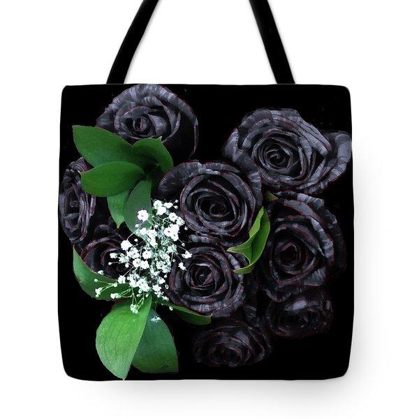 Black Roses Bouquet Tote Bag
