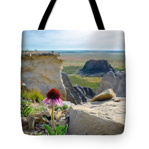 Black Sampson In The Badlands Tote Bag