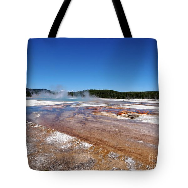 Black Sand Basin In Yellowstone National Park Tote Bag by Louise Heusinkveld
