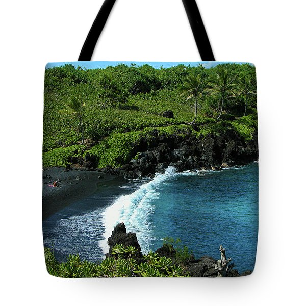 Black Sand Beach  Tote Bag