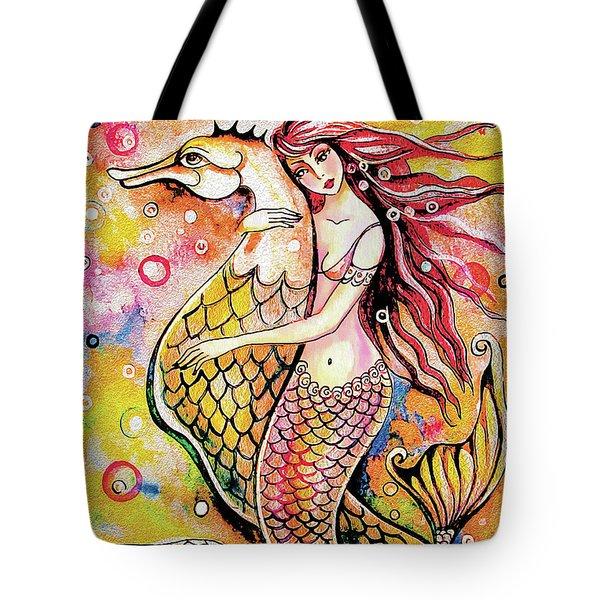 Black Sea Mermaid Tote Bag