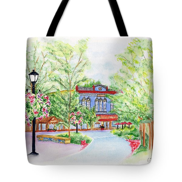 Black Sheep On The Plaza Tote Bag