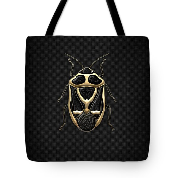 Black Shieldbug With Gold Accents  Tote Bag