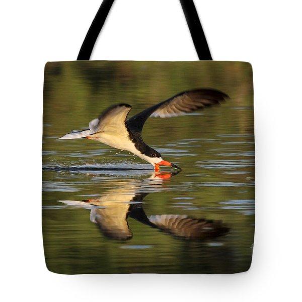 Black Skimmer Fishing Tote Bag