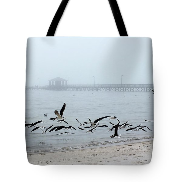 Black Skimmers - Biloxi Mississippi Tote Bag