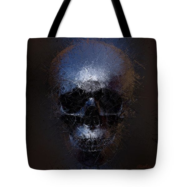 Black Skull Tote Bag by Vitaliy Gladkiy