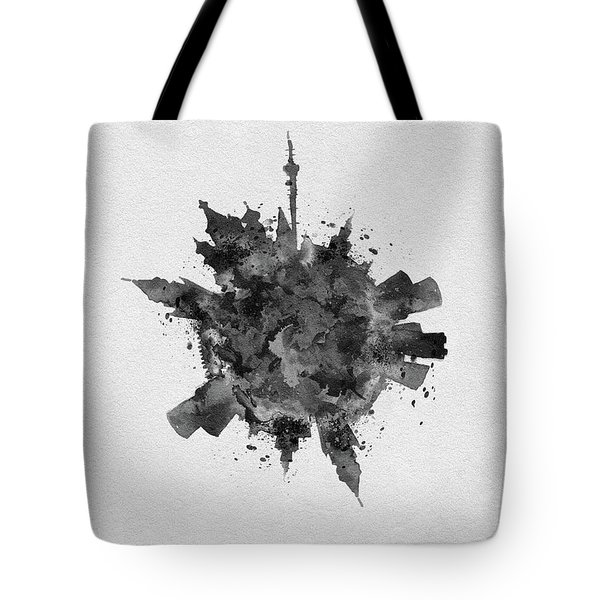 Black Skyround Art Of Moscow, Russia Tote Bag