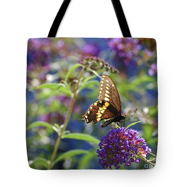 Black Swallowtail Glow Tote Bag
