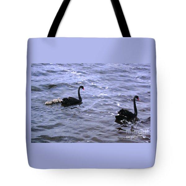 Black Swan Family Tote Bag