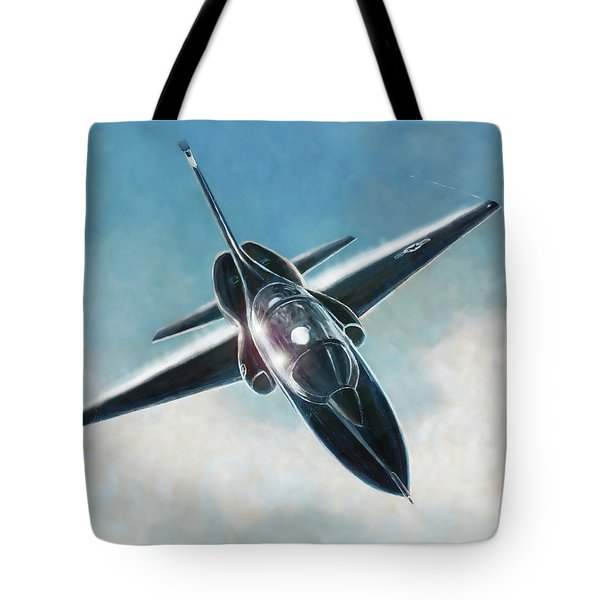 Black T-38 Tote Bag