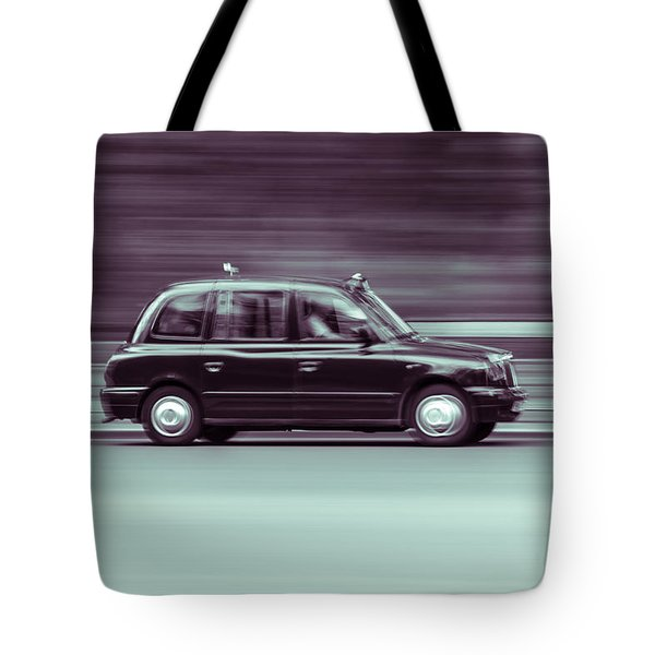 Black Taxi Bw Blur Tote Bag