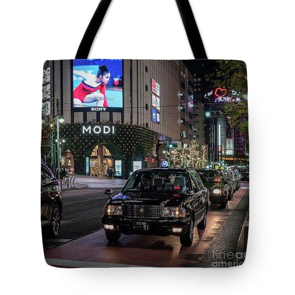 Black Taxi In Tokyo, Japan Tote Bag